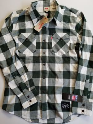 Levi's New York Jets Men's S Western Button-Up Long Sleeve Shirt for Sale in San Diego, CA