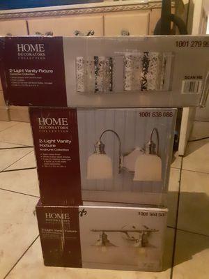 Home Decorators Collection 3# 2-light vanity fixtures for Sale in Las Vegas, NV