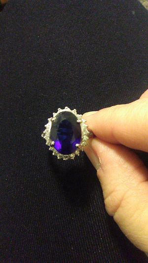 .925 sterling silver ring Blue Sapphire for Sale in Greensburg, PA