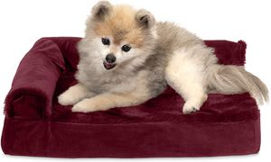 Furhaven Pet - Packable Travel Bed, Plush Orthopedic Sofa, L-Shaped Chaise Couch, & Mid-Century Modern Dog Bed Frame for Dogs & Cats - Multiple Styles for Sale in Tinley Park, IL