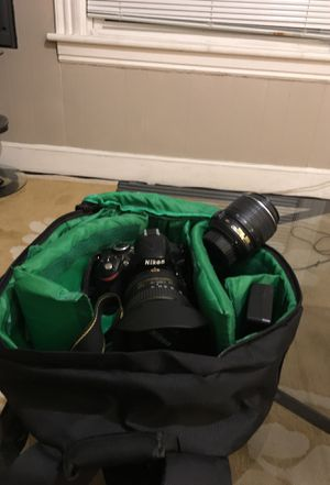 Nikon Camera with Lens 18-55mm and 55-200mm for Sale in Danbury, CT