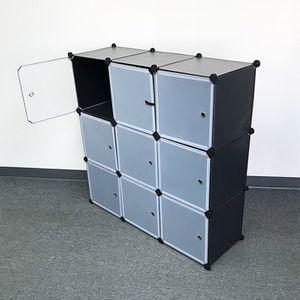 "(New In Box) $40 Plastic Storage 9-Cube DYI Shelf with Door Clothing Wardobe 43""x14""x43"" for Sale in La Mirada, CA"