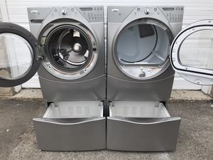 Beautiful whirlpool electric front loader set free delivery for Sale in Sandy, UT