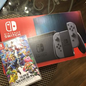 Nintendo Switch With Super Smash Bros for Sale in Newport News, VA