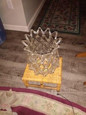 Beautiful centerpiece / crystal vase for Sale in Las Vegas, NV