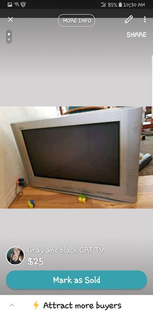 Grey and black box tv for Sale in Midway, WV