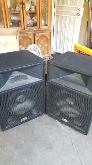 DJ speakers old school 18 inch Horn loaded B52's for Sale in Anaheim, CA