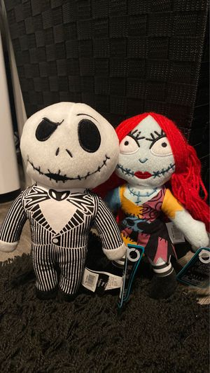 Jack and sally plushies for Sale in Highland, CA