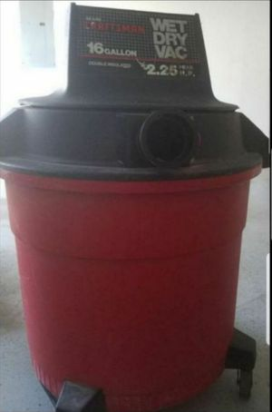 Craftsman Wet Dry Vac 16 Gallon 2.5 Ft tall for Sale in Waterbury, CT