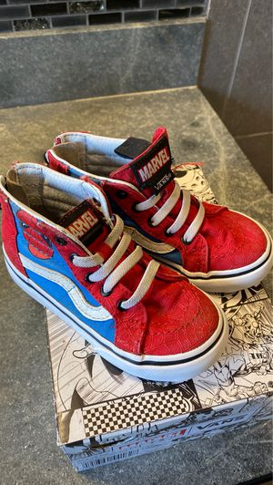 Vans Spider-Man shoes. Size 7.5C for Sale in Bloomington, CA
