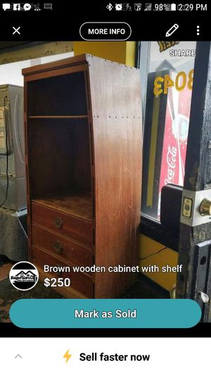 Wood boat book case for Sale in Peoria, IL