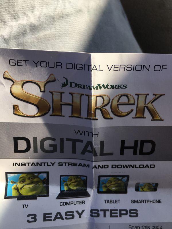 SHREK HD DIGITAL COPY