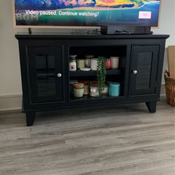 "Black Media Stand For 50"" TV Or Smaller for Sale in Pinellas Park,  FL"