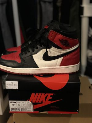 Jordan 1 Bred Toe Size 8.5 for Sale in Washington, DC