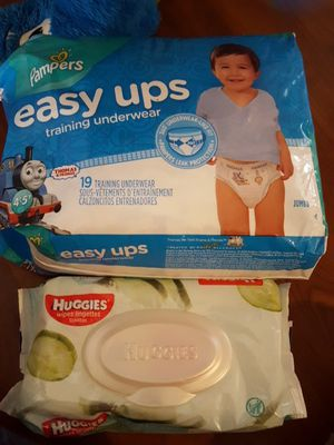 Pampers boys easy ups with wipes for Sale in Brighton, CO