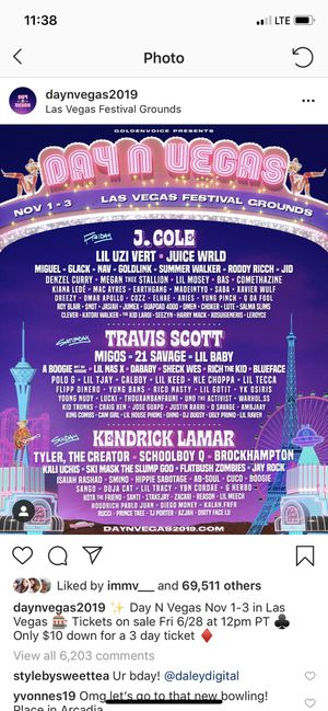 Day n Vegas GA ticket for Sale in San Jose, CA