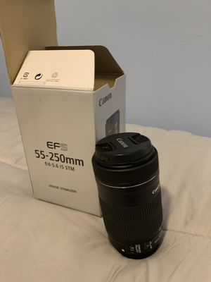 Canon EFS 55-250mm f4-5.6 IS STM Lens for Sale in Miami, FL