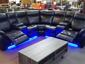 Sectional sofa with the LED light for Sale in Fort Worth, TX