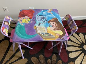 Disney Princess Kids Table and two chairs for Sale in Atlanta, GA