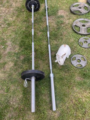 """Like New Olympic Barbell - Bar only (7ft , 45 lbs , 2"""") for Sale in Snohomish, WA"""