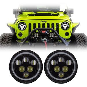 """7"""" Round LED Headlights With Angel Eye Halo *Clearance Sale* for Sale in Anaheim, CA"""