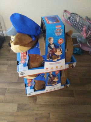Kids Nick jr. Paw Patrol ride on plushie toys just like at the mall for Sale in Las Vegas, NV
