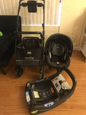 Chicco fit 2 infant car seat base and shuttle stroller for Sale in Santa Monica, CA