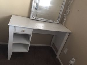 White table and mirror for Sale in Mesa, AZ
