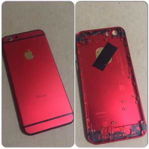 Back cover iPhone 6 red gold for Sale in San Francisco, CA
