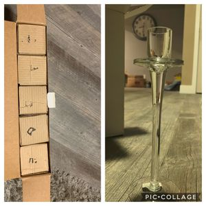 New Candles holder(glass) $5 for Sale in Pico Rivera, CA