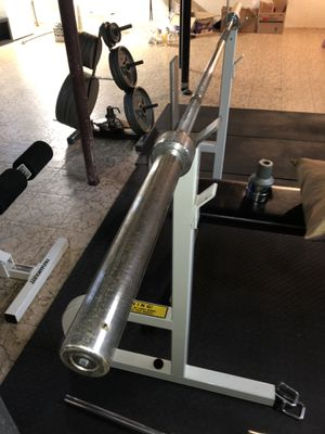 Ivanko olympic bar + Paramount bench with rack for Sale in HUNTINGTN WDS, MI