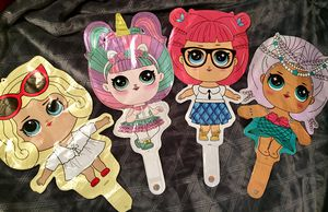 Lol Surprise doll character Mylar balloons Set of 4 for Sale in Edmonds, WA