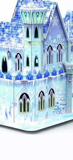 Brand New Disney Frozen 3D Paper Foam Puzzle Ice Palace Castle DIY Educational Toys For Kids Home Decor Gifts for Sale in Annapolis,  MD