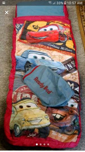Disney's Light'ning McQueen air pump mattress sleeping bag with carry bag for Sale in Wichita, KS