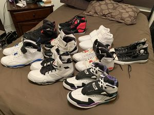 8 pairs of Jordan's / converse/ vans sizes 10 and 10.5 4 them are new for Sale in Las Vegas, NV