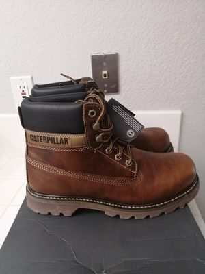 Brand new Caterpillar work boots for men. Size 10.5, 12 and 13. Soft toe for Sale in Riverside, CA