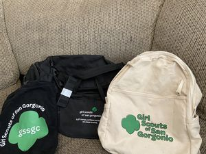 Girl Scout Gear / duffle bag / backpack for Sale in Corona, CA
