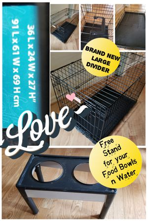 Brand new dog crate Free Stand for Sale in Hillsborough, NC