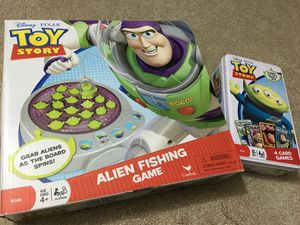 Toy Story Alien Fishing and Card Pack Games for Sale in Portland, OR