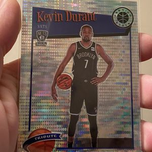 2019-20 Hoops Premium Stock KEVIN DURANT Tribute PULSAR PRIZM Nets #284 for Sale in San Jose, CA