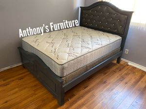 Queen bed & bamboo set for Sale in Huntington Park, CA