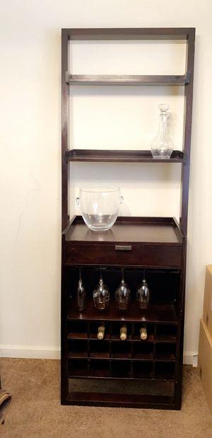 Bar shelf dark braun very good condition for Sale in San Bruno, CA