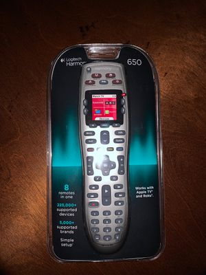 Logitech harmony 650 universal remote for Sale in Emmaus, PA
