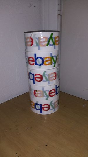 Ebay shipping packing tape ( lot of 5 rolls) new for Sale in Los Angeles, CA