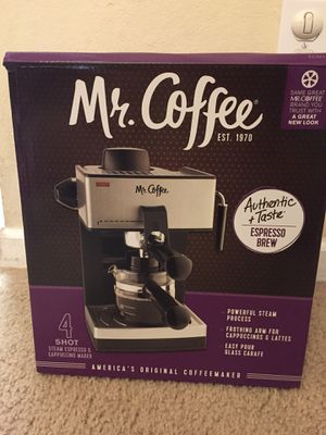 Mr. Coffee 4-Cup Steam Espresso System with Milk Frother for Sale in Rolla, MO