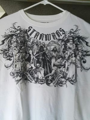 Star Wars T Shirt By Ecko 2008. XL White W/Black Graphic Galactic Empire for Sale, used for sale  El Monte, CA