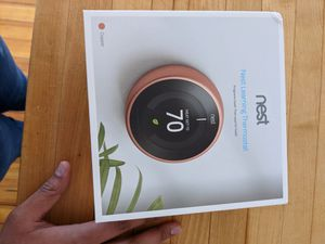 Nest Thermostat: Open Box, copper color for Sale in Cambridge, MA