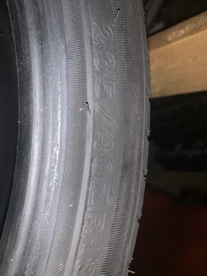 235/40 R18 Tires Nearly New ( only 5 miles on them). for Sale in Douglasville, GA