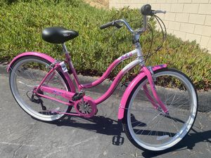 Women's Pink Beach cruiser 26-inch wheels with 7-speed shifter bike bicycle for Sale in San Diego, CA