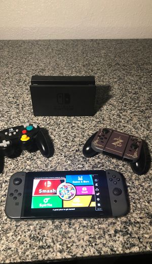 Nintendo switch, extra joy cons, GameCube controller, super smash bros and more for Sale in Nashville, TN
